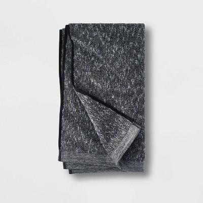 Slub Accent Organic Hand Towel Black - Casaluna™