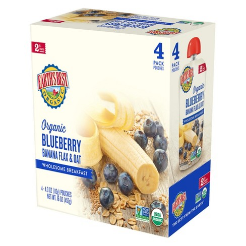 Earth's Best Organic Wholesome Breakfast Blueberry Banana - 4oz (4pk) - image 1 of 2