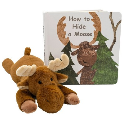 """Mary Meyer Moosey Soft Plush & """"How to Hide a Moose"""" Board Book - Plush & Book Set"""