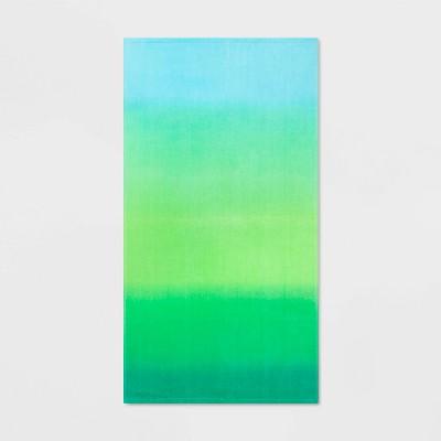 Ombre Cool Beach Towel Green - Sun Squad™