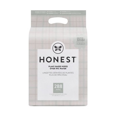 The Honest Company Plaid Baby Wipes - 288ct
