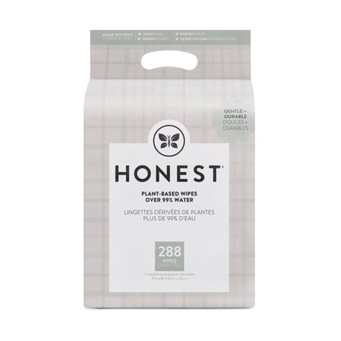 The Honest Company Plaid Baby Wipes - 288ct - image 1 of 4