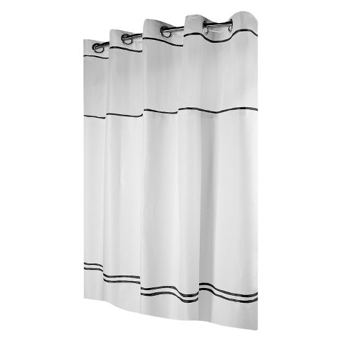 Solid Shower Curtain Black