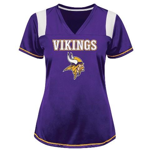 Minnesota Vikings Women's Shimmer Top XXL - image 1 of 1