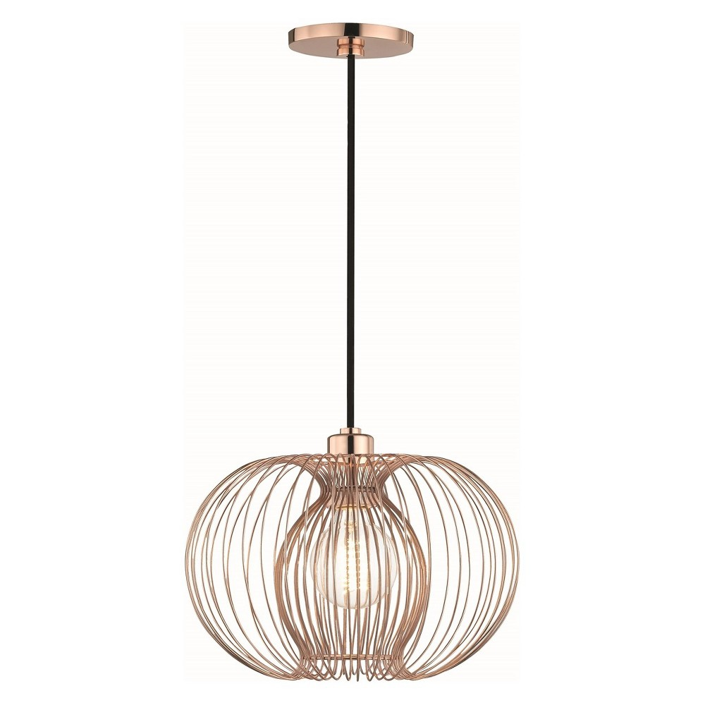 1pc Jasmine Small Light Pendant Copper (Brown) - Mitzi by Hudson Valley