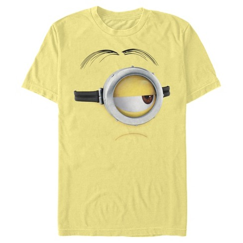 Men's Despicable Me Minions Stuart Frown Big Face T-Shirt - image 1 of 1