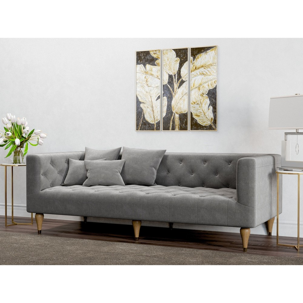 Image of Alan Modern Tufted Sofa Charcoal - AF Lifestlye, Grey