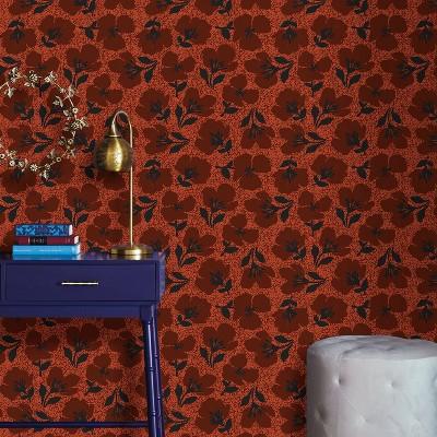 Retro Floral Peel & Stick Wallpaper Red - Opalhouse™