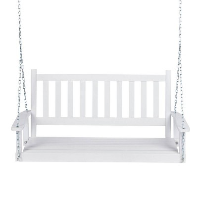 Maine Hardwood Porch Swing - White - Shine Company Inc.