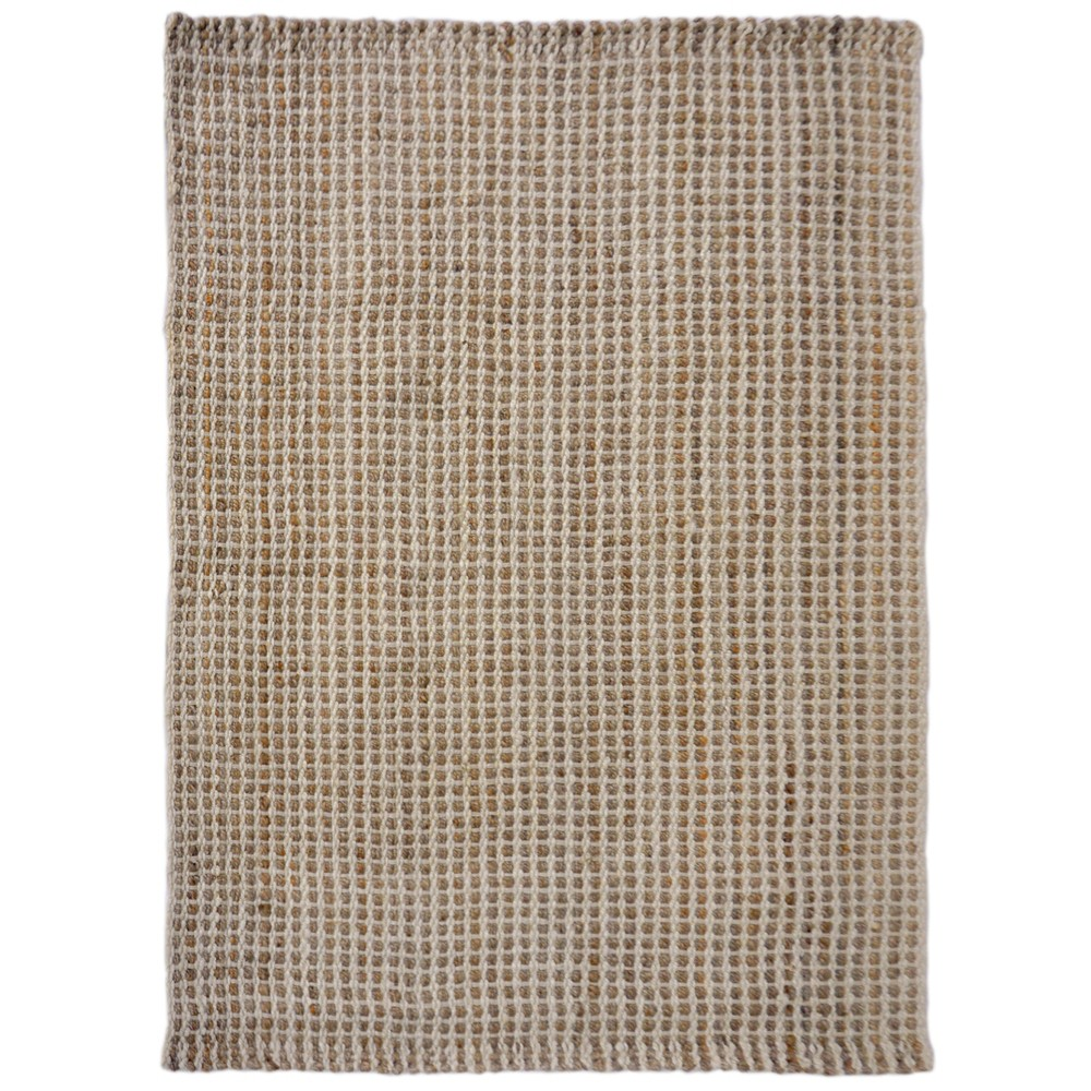 3'X5' Solid Woven Accent Rug Natural - Liora Manne, White