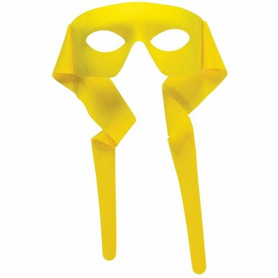 Forum Novelties Costume Masked Man Cloth Eye Costume Mask Yellow