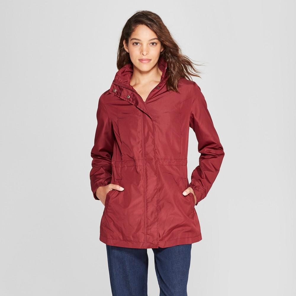 Women's Rain Jacket - A New Day Burgundy (Red) Xxl