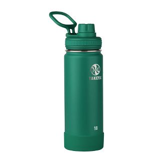 Takeya 18oz Actives Insulated Stainless Steel Water Bottle with Spout Lid - Evergreen