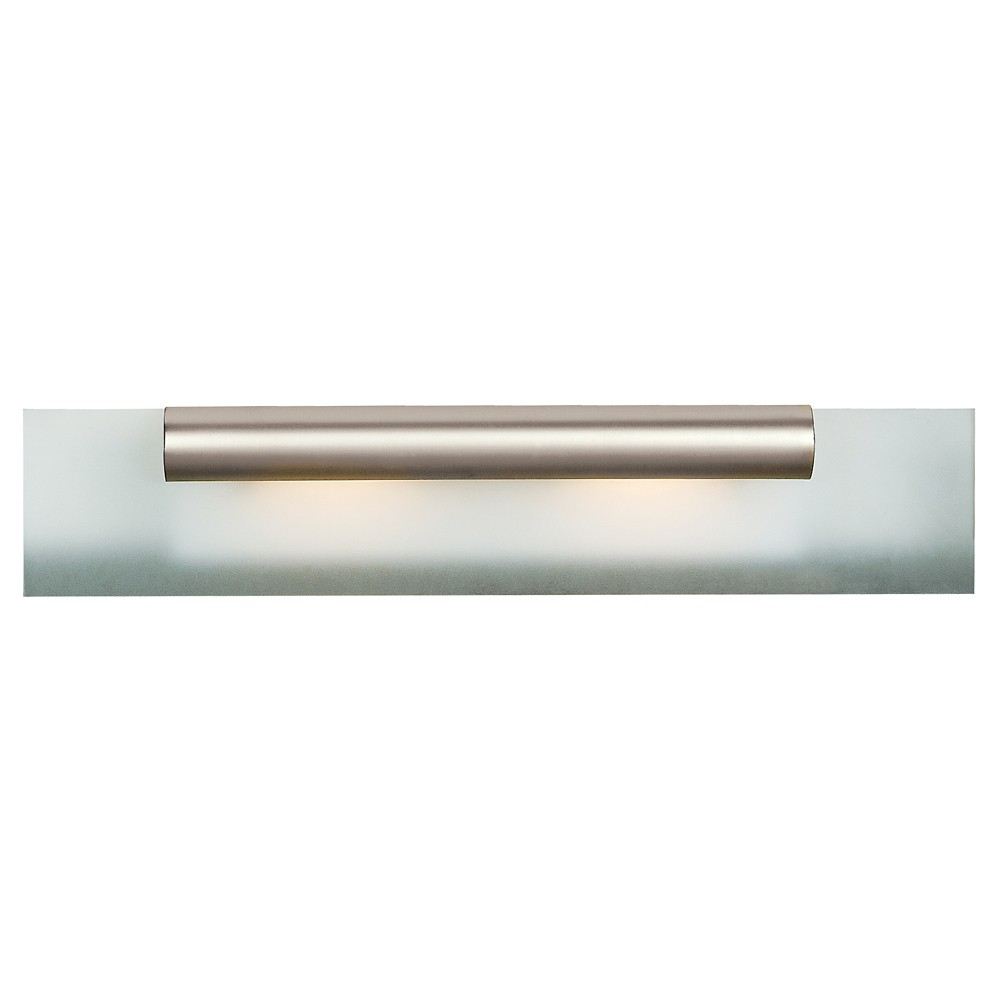 Roto Fluorescent Vanity Light with Frosted Glass Shade - Satin Chrome (Grey) (24)