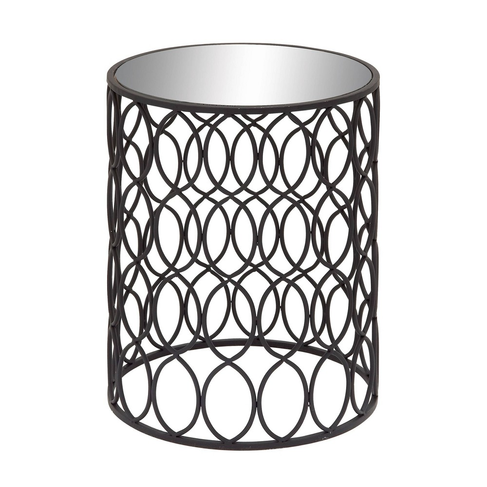 Modern Accent Table Black Olivia 38 May