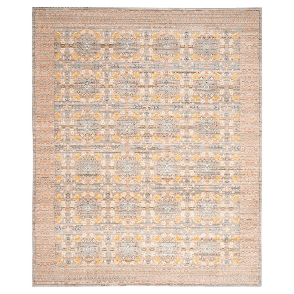 Felicia Area Rug - Light Gray / Multi (8' X 10') - Safavieh