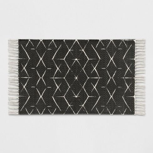 Black Geometric Woven Accent Rugs 2 X3 Project 62 Target
