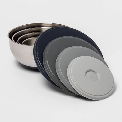 Joseph Joseph 4pc Stainless Steel 100 Collection Nesting Prep & Store Bowl Set with Lids