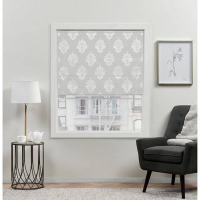 Marseilles Damask Blackout Roman Curtain Shades - Exclusive Home