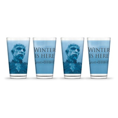 Game of Thrones Winter Is Here Pint Glasses 16oz - Set of 4