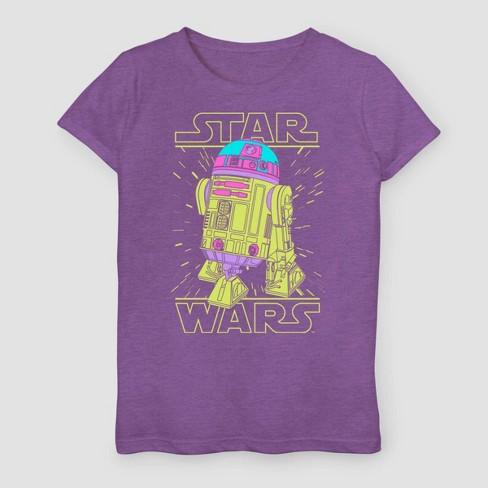 Girls' Star Wars A New Hope T-Shirt - Purple - image 1 of 2