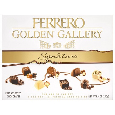 Ferrero Rocher Golden Gallery Chocolate Gift Box - 8.4oz/24ct
