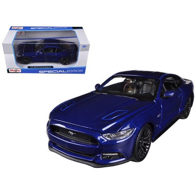 2015 Ford Mustang GT 5.0 Blue Metallic 1/24 Diecast Car Model by Maisto