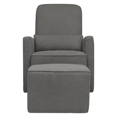 DaVinci Olive Glider and Ottoman - Dark Gray