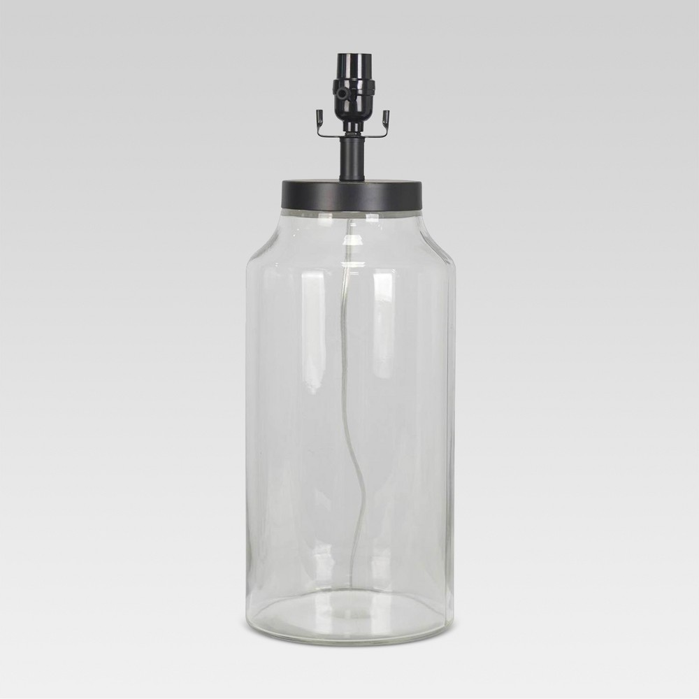 Casual Fillable Large Lamp Base Clear Includes Energy Efficient Light Bulb - Threshold, Clear Yellow
