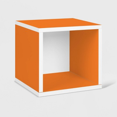 Way Basics Stackable Eco Cube Storage Cubby Organizer Orange