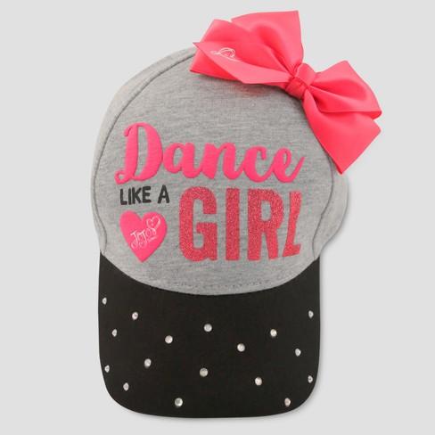 Girls  Nickelodeon JoJo Siwa  Dance Like A Girl  Baseball Cap - Gray Pink    Target f6d7ba8b35b