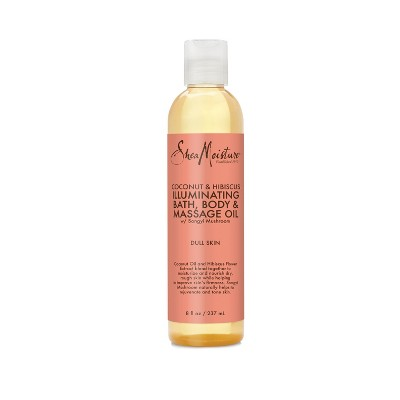 SheaMoisture Coconut and Hibiscus Bath Body and Massage Oil - 8 fl oz