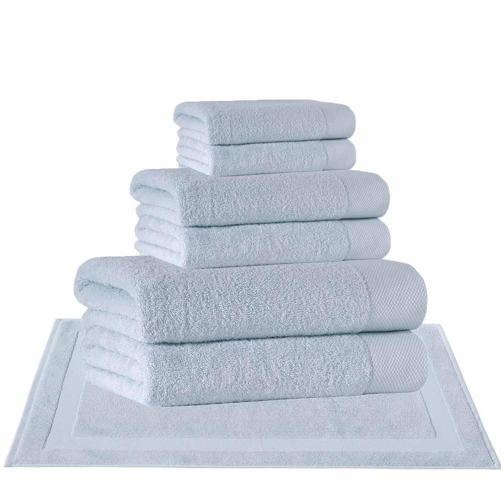 8pc Signature Turkish Cotton Bath Towel Set Green Enchante Home