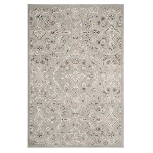Silver Beige Floral Loomed Area Rug 4 X5 7 Target
