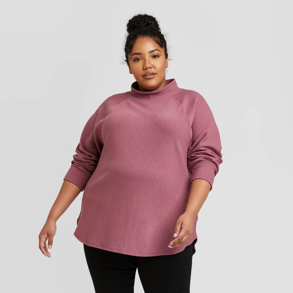 Best Women's Plus Size Feminine Fleece Sweatshirt - Ava & Viv™
