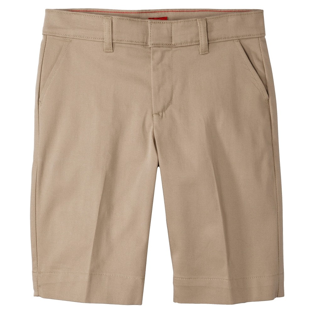 Dickies Girls' Classic Stretch Bermuda Shorts - Desert Sand 7