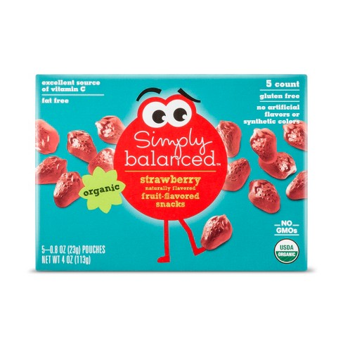 Strawberry Flavored Snacks - 5ct - Simply Balanced™ - image 1 of 2