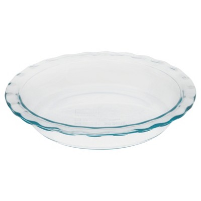 Pyrex Grip Rite 9.5  Glass Pie Pan