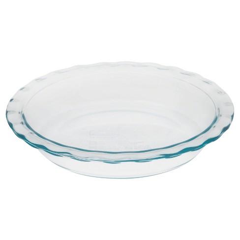 "Pyrex Grip Rite 9.5"" Glass Pie Pan - image 1 of 4"