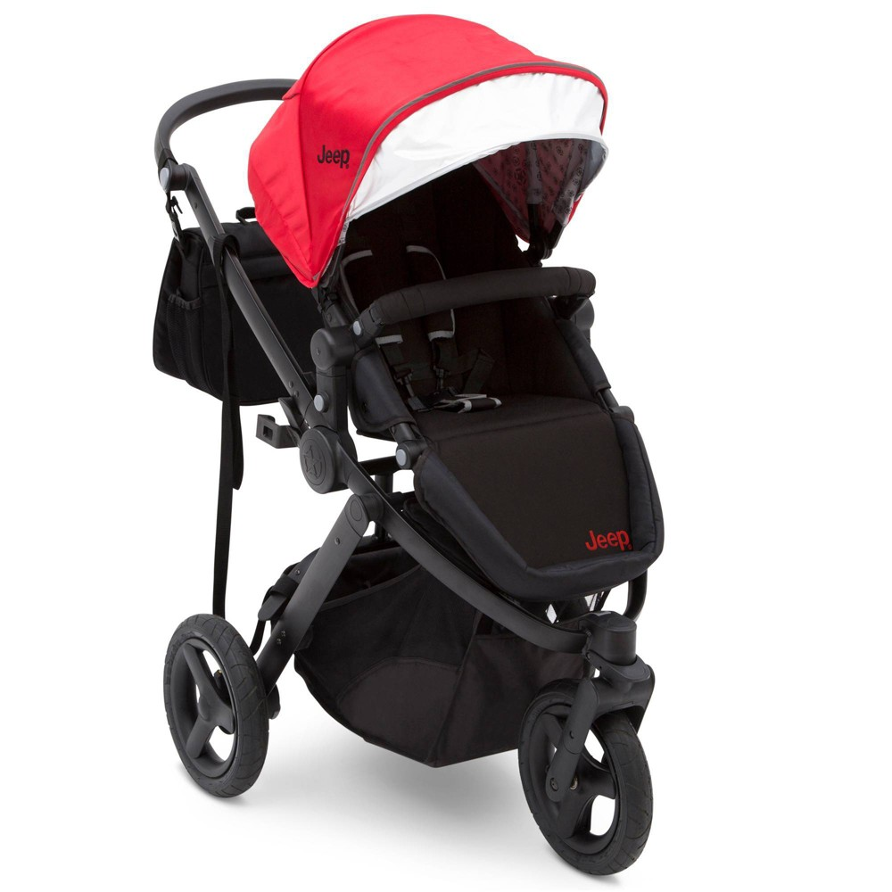 Image of J is for Jeep Brand Sport Utility All-Terrain Jogger Stroller - Red