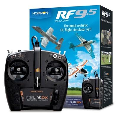 RealFlight 9.5 Radio Control RC Flight Simulator Software with Spektrum Interlink-DX Controller, RFL1200