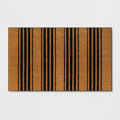 1'6  x 2'6  Stripe Door Mat Black - Threshold™