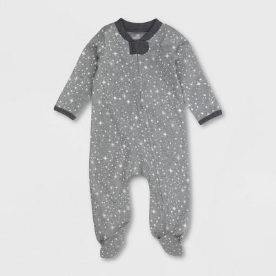 Honest Baby Organic Cotton Twinkle Star Sleep N' Play - Gray 3-6M