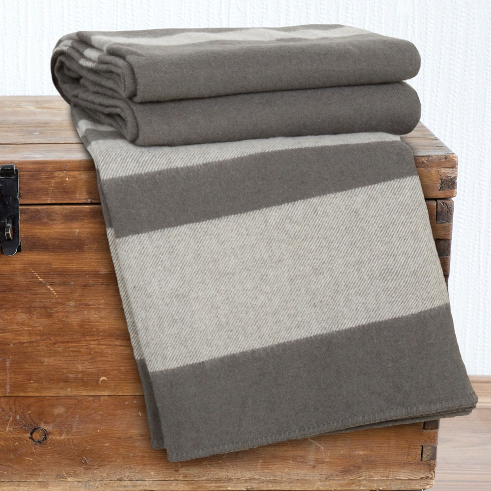 Australian Wool Blanket (Full/Queen) Platinum - Yorkshire Home¨, Gray