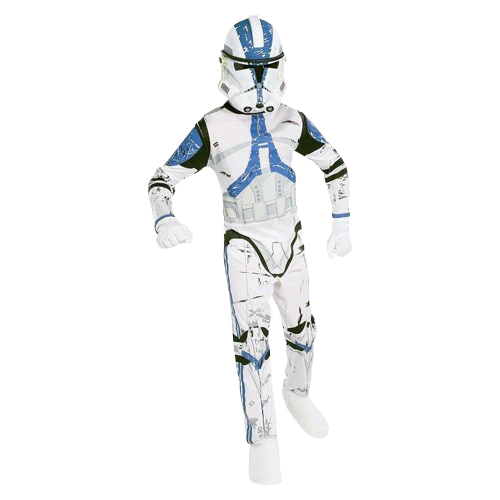 Image of Halloween Kids' Star Wars: The Force Awakens Clone Trooper Costume M 8-10, Adult Unisex, Size: Medium(8-10), White