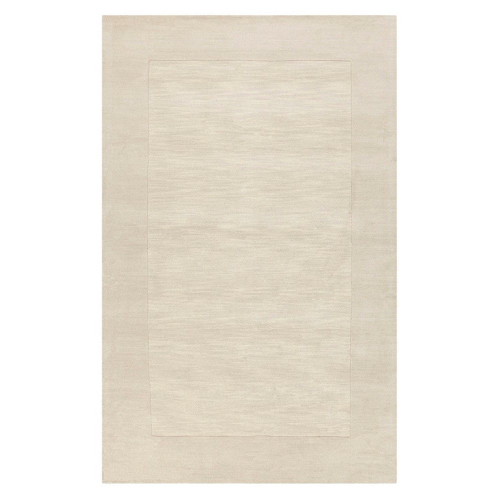 Ivory Solid Woven Area Rug - (8'X11') - Surya