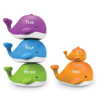 Learning Resources Snap-n-Learn Stacking Whales, Educational Toys