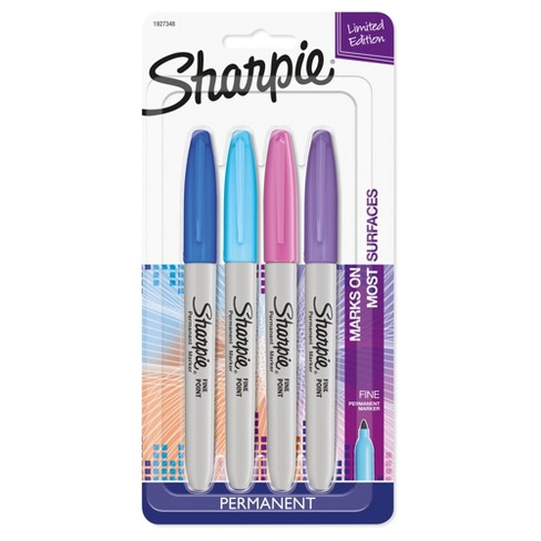 Sharpie® Electropop 4ct Fine Tip Permanent Markers - image 1 of 4