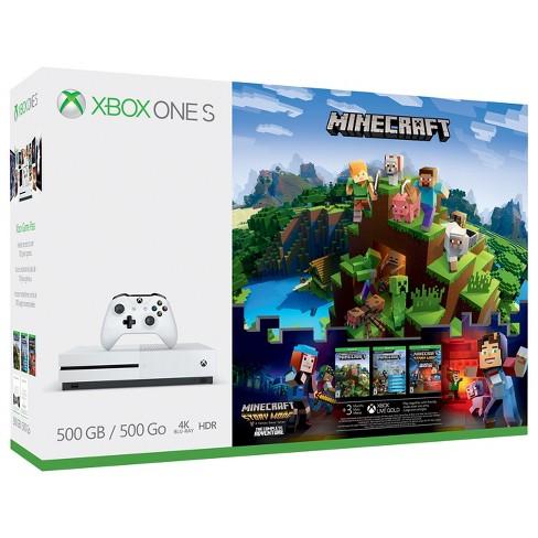 Xbox One S 500GB Minecraft Complete Adventure Bundle