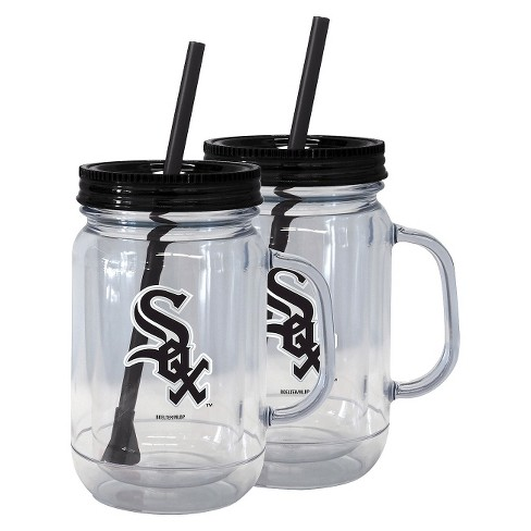 Boelter Brands MLB Chicago White Sox Set of 2 Handled Straw Tumbler - 20oz - image 1 of 1